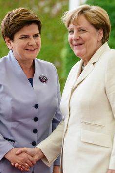 Beata Szydlo Photos Photos: German Chancellor Angela Merkel Meets With Her Polish Counterpart Polish Government, Visit Poland, Smart Women, Shake Hands, June 22, Elegant Chic, Warsaw, To Focus, Powerful Women
