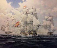 Sailboat Art, Nautical Art, Battle Of Lepanto, Ship Map, Spanish Galleon, Ship Of The Line, Naval History, Wooden Ship, Tug Boats