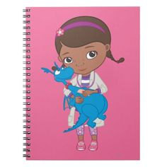 Doc McStuffins Holding  Stuffy. Regalo, gift. #cuaderno #notebook