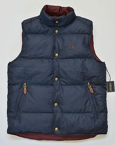 NWT Polo Ralph Lauren Mens Pony Reversible Puffer Down Jacket Vest *More Colors*