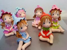 ♡♡♡♡♡♡♡ a porcelana fria polymer clay Polymer Clay Fairy, Polymer Clay Figures, Cute Polymer Clay, Cute Clay, Polymer Clay Dolls, Polymer Clay Miniatures, Polymer Clay Projects, Polymer Clay Creations, Clay Crafts