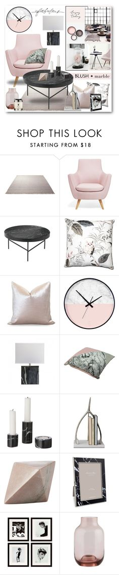 """""""Blush + Marble Interior"""" by brendariley-1 ❤ liked on Polyvore featuring interior, interiors, interior design, home, home decor, interior decorating, ESPRIT, Ryan Studio, ferm LIVING and CB2"""