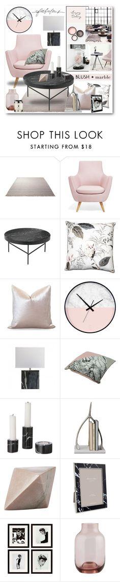 """Blush + Marble Interior"" by brendariley-1 on Polyvore featuring interior, interiors, interior design, home, home decor, interior decorating, ESPRIT, Ryan Studio, ferm LIVING and CB2"