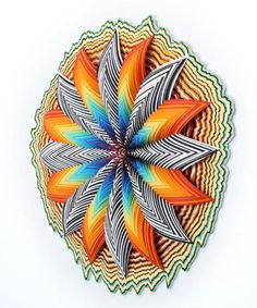 Incredibly Colorful Hand-Cut Paper Sculptures by Jen Stark