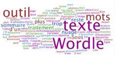 Wordle crée un nuage de mots en se basant sur la fréquence d'apparition des mots dans le texte ou la page que vous lui soumettez.