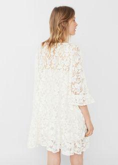 Kanten jurk met borduursels