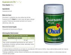 Guaraná em pó Dicel