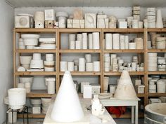 Jos Devriendt Ghent studio photographed by Frederik Vercruysse Pottery Workshop, Ceramic Workshop, Ceramic Studio, Pottery Studio, Ceramic Pottery, Ceramic Art, Slab Pottery, Ceramic Bowls, Ceramic Store