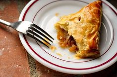 Crispy Turnovers with Apple, Bacon, and Caramelized Onions (with puff pastry)