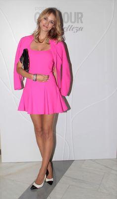 Alba Carrillo. Premios Glamour Belleza. Hotel Palace, Madrid. 11 de marzo 2013. Alba Carrillo, Glamour, Pink, Dresses, Fashion, Door Prizes, March, Events, Beauty