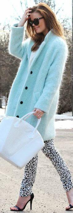 This coat…not the pants and shoes and bag so much.