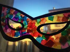 segnalibro natalizio – origami Circus Crafts, Carnival Crafts, Carnival Masks, Diy Mask, Diy Face Mask, Baby Crafts, Crafts For Kids, Fancy Dress Masks, Mardi Gras Decorations