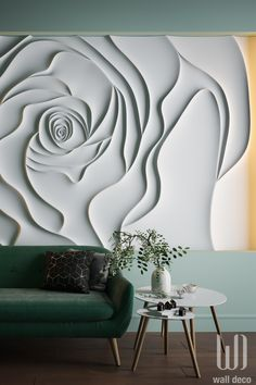 Find the most unique flower at 3d Wall Art, Unique Wall Art, Home Wall Art, Wall Art Decor, 3d Flower Wall Decor, Ceiling Art, Ceiling Design, Wall Design, Textured Walls