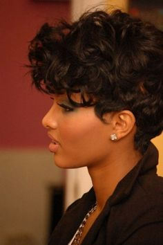 Trendy Short Black Curly Haircuts