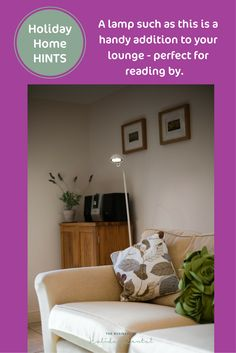 Now who doesn't like to read on holiday? Your holiday home's guests will for sure. Make it easy for them with overhead lamps such as this.