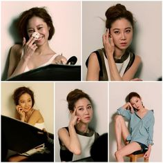 Kong Hyo-jin from chic to sexy @ HanCinema :: The Korean Movie and Drama Database Gong Hyo Jin, Fall Hair, Jeans Style, Her Hair, Makeup Looks, Korean, Photoshoot, Actresses, Chic