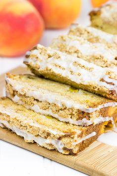 Peach Crumble Bread by Spiced #Bread #Peach #Peach_Crumble