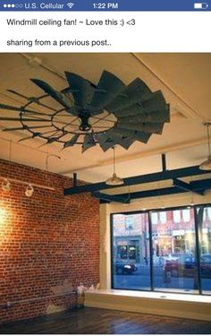 Windmill ceiling fan!