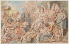 Jacob Jordaens | Allegory of Victory | Drawings Online | The Morgan Library & Museum