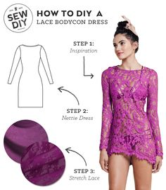 DIY Outfit –Lace Bodycon Dress — Sew DIY