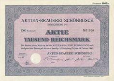 Aktien-Brauerei Aktie 1000 RM 1942