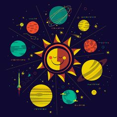 solar system illustration by Brent Couchman
