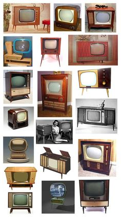 Before TV's were wall art, they were once considered home decor.