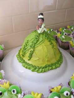 Princess and the Frog Party - I can use the princess cake pan to do this!  :)
