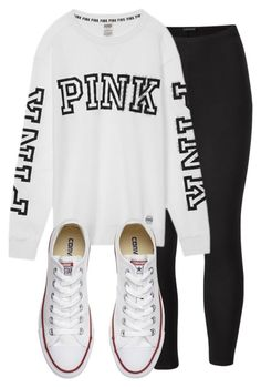 Untitled #10 by alandra333 on Polyvore featuring polyvore, Venus, Converse, Victoria's Secret, fashion, style and clothing
