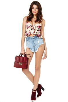 Stone Cold Fox Quixote Crop Top - Floral | Shop What's New at Nasty Gal
