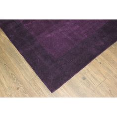 "Tone-on-Tone Solid Violet Area Rug (7'6 x 10'3) (7'6''X103), Purple, Size 7'6"" x 10'6"" (Polyester, Border)"