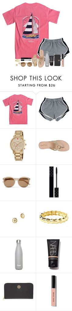 """I'm just floating through life like a turtle in the water "" by madelyn-abigail ❤ liked on Polyvore featuring Kate Spade, Lilly Pulitzer, Yves Saint Laurent, Gucci, NARS Cosmetics, Tory Burch and Bobbi Brown Cosmetics"