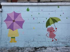 "Street Art. "" Caturday_Waiting for the spring rain. "" (=^ㅅ^=) - 송민호 (Song Min-ho) - Google+"