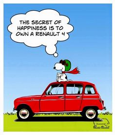 Renault 4 y Snoopy Snoopy, 504 Pick Up, Motorcycle Tips, Funny Socks, 50cc, Happy Socks, Car Car, Retro, Cars And Motorcycles