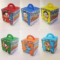 Kit Com 12 Caixinhas - Turma Da Monica - R$ 30,00