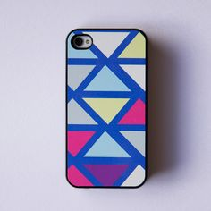 iPhone 4/4S Case with colorful geometric pattern