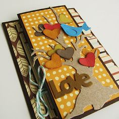 accordion style card by Virginia Nebel