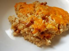 Cassie Craves: Chicken Cheddar Bacon Ranch Rice Bake 2-3 shallots, peeled 3-4 cloves garlic 1 teaspoon olive oil 7 pieces bacon 2 tablespoons flour 4 cups heavy cream 1 tablespoon Colman's mustard powder 2 cups shredded pepper jack  2 cups shredded cheddar  Salt and pepper 1 pound penne pasta 1/2 pound (or more) of crab meat 1 tablespoon Colman's mustard 1/2 cup Panko 2 T butter fresh parsley 1 bunch green onions