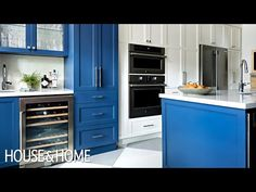 A Blue & White Kitchen Makeover With Great Storage Ideas - YouTube