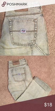 🎈10/10 Last Call! Cute Silver cropped jeans Washed out stripe pattern jeans Silver Jeans Jeans Ankle & Cropped