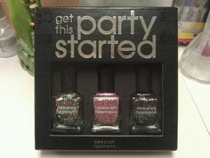 """My Deborah Lippman """"Get This Party Started"""" set arrived today. Wee!"""