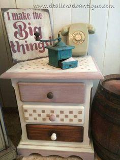 Pintar muebles de pino miel. Dos formas diferentes para un mismo mueble sólo con pintura.