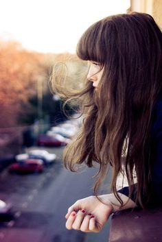 #long hair #brunette #fringe