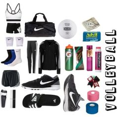 """In my Volleyball Bag"" by dianaaaaaaaaaaa on Polyvore"