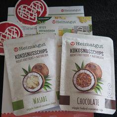 https://crazyhibble.wordpress.com/ #heimatgut #snackwasbesseres #test #produkttest #kokosnusschips #kokos #kokosnuss #schokolade #wasabi #lecker #gesund