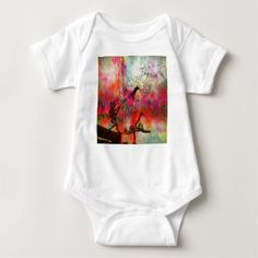 Fairies Spreading Daisy Seeds Baby Bodysuit - diy cyo customize create your own personalize