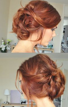 Bohemian bun and beautiful hair color Up Hairstyles, Pretty Hairstyles, Wedding Hairstyles, Bohemian Hairstyles, Formal Hairstyles, Hair Day, My Hair, Undone Look, Corte Y Color