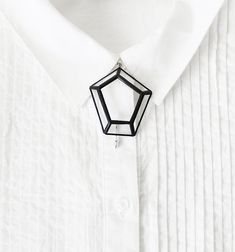 Stained glass geometric brooch Gemstone by hereandnowshop on Etsy, $35.00