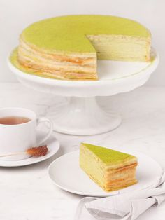Lady M - Green Tea Mille Crepes Cake