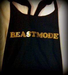 Beastmode Racerback Work-out Tank Top. $22.00, via Etsy.